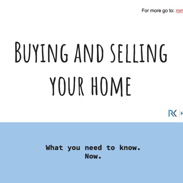 Buying and Selling a Home 2017