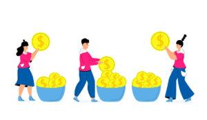 Illustration-saving-coins-in-buckets-RKHomeowner-Saving-on-capital-gains-tax