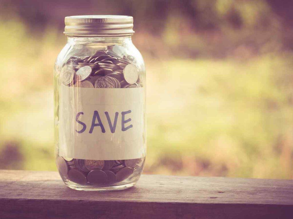 Saving money using money jars