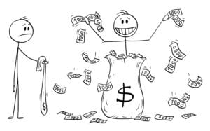 Throwing-money-stickman-illustration-best-money-decisions-credit-cards