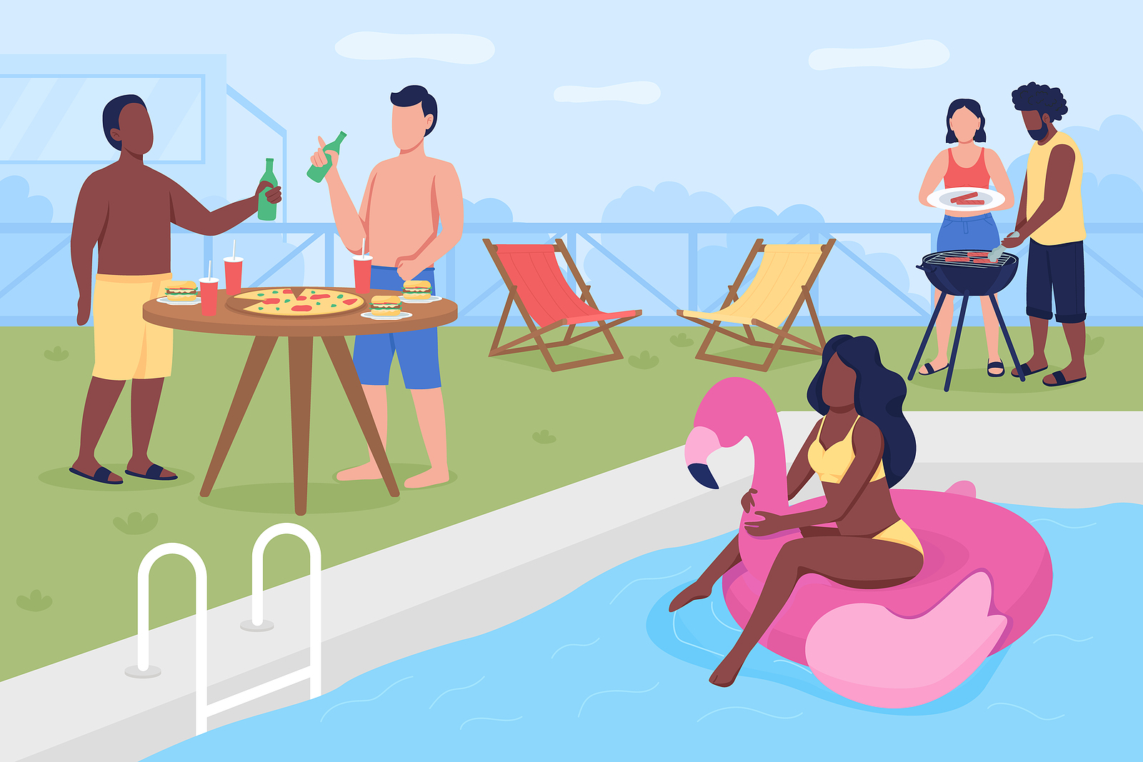 swimming-pool-party-with-friends-illustration-RKHomeowner